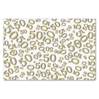 Over The Hill 50th Birthday Black/White Pattern Tissue Paper