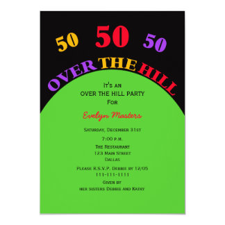 Over the Hill 50th Birthday Party Invitation