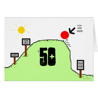 Over The Hill-50th Birthday-Personalize It Card