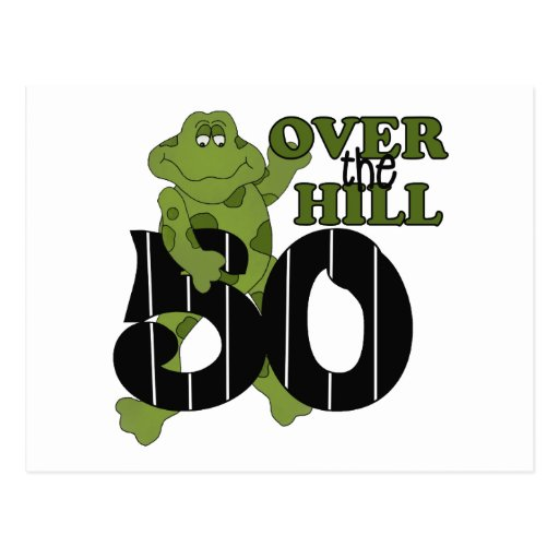 Over The Hill 50th Birthday Post Cards