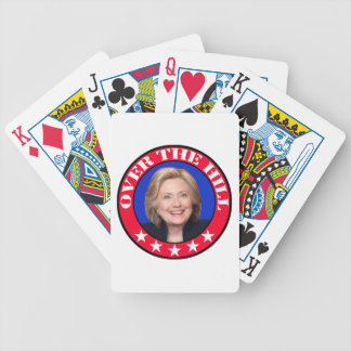 OVER THE HILL - ANTI-HILLARY CLINTON BICYCLE PLAYING CARDS