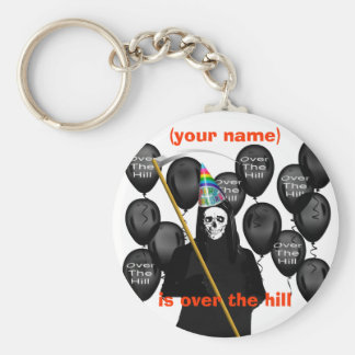 Over the Hill Basic Round Button Keychain