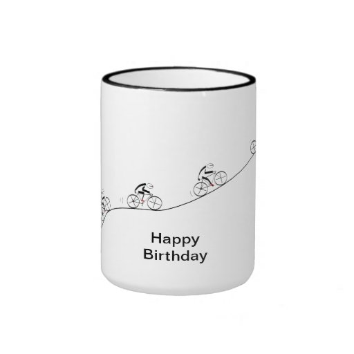 Over The Hill Bicyclist Birthday Coffee Mug