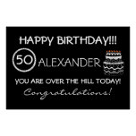 Over The Hill Birthday Banner Poster