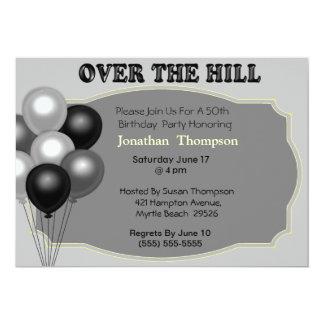 Over the Hill  Birthday Invitation