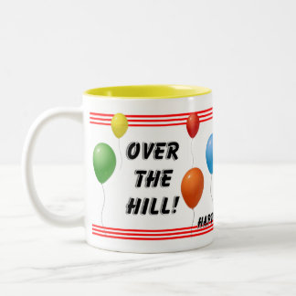 Over The Hill Birthday Two-Tone Mug