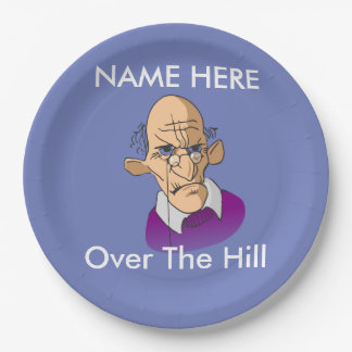 Over The Hill Birthday Paper Plates