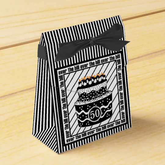 Over The Hill Birthday Party Favor Box