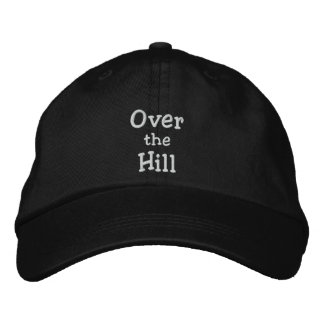 Over the hill cap embroidered baseball cap