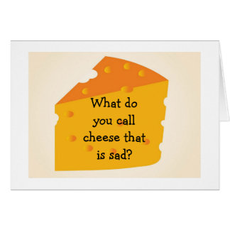 """OVER THE HILL CHEESE IS """"BLUE"""" ARE """"YOU"""" CARD"""