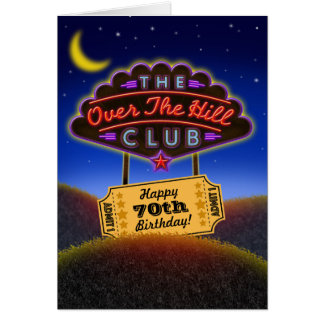 Over The Hill Club Member Birthday Card