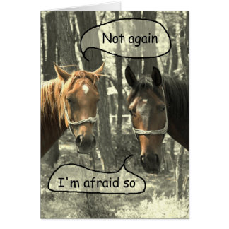 Over the Hill Horses Birthday Greeting Card