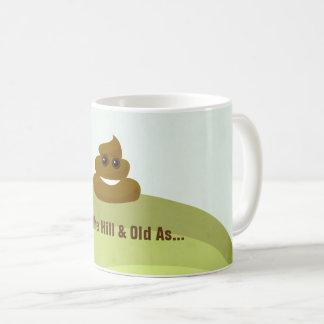 Over The Hill & Old As Poop Emoji Birthday Mug
