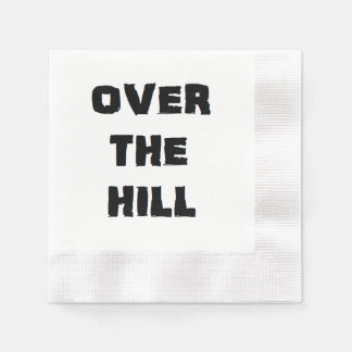 """Over the Hill"" Paper Napkins"