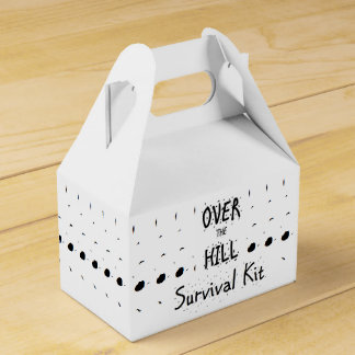 """Over the Hill"" Survival Kit Favor Boxes"