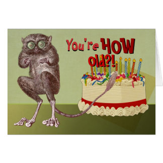 Over the Hill Tarsier Birthday Card