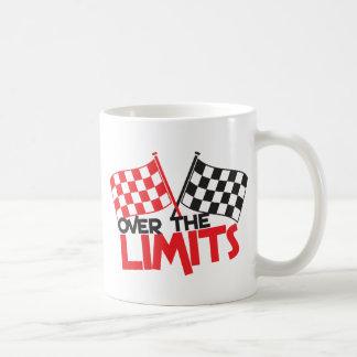 over the limits Racing flag Coffee Mugs
