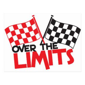 over the limits Racing flag Postcard
