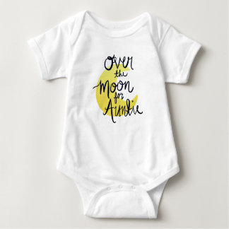 Over the Moon for Auntie (Gold) Baby Bodysuit