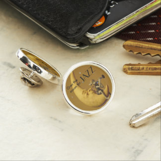 Over the moon for Jazz Lapel Pin