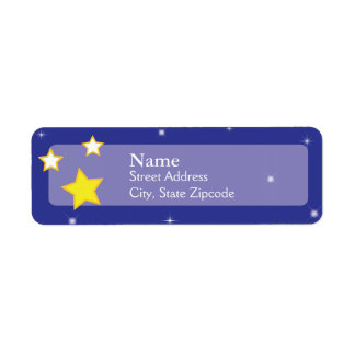 Over the Moon Stars  |  Return Address Label