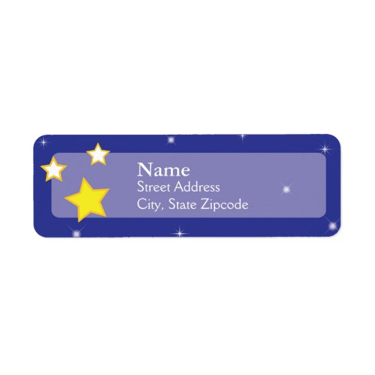 Over the Moon Stars  |  Return Address Label
