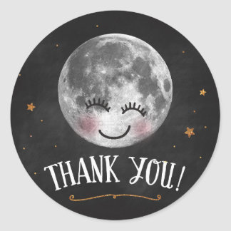 Over the Moon Thank You Stickers
