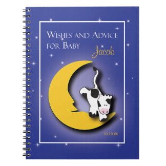 Over the Moon  |  Wishes & Words of Advice Notepad Notebook