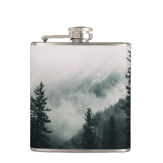 Over the Mountains and trough the Woods Hip Flask