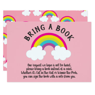 Over The Rainbow Bring a Book Card