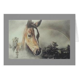 """""""Over the Rainbow"""" Horse Card"""