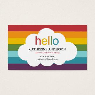 Over The Rainbow Mommy Card / Calling Card