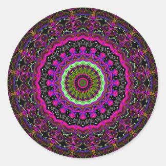 Over the Rainbow No. 2 Kaleidoscope Classic Round Sticker