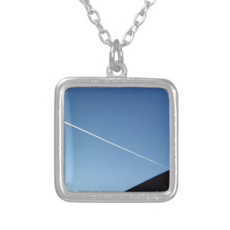 over the roof silver plated necklace