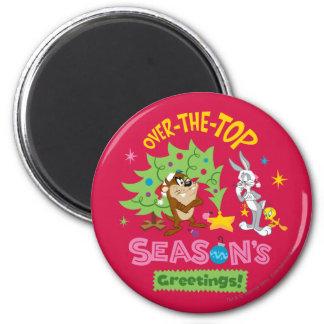 Over The Top Season's Greetings Fridge Magnets
