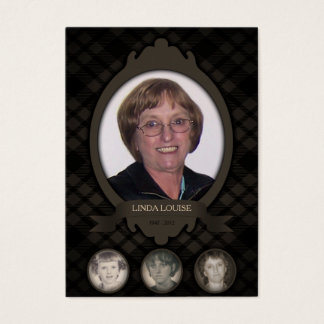 over the years photo memorial announcements business card