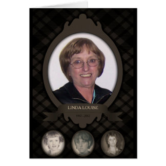 over the years photo memorial announcements greeting card