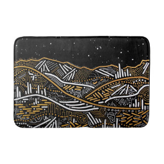 Over There Night Sky Landscape Bathmat