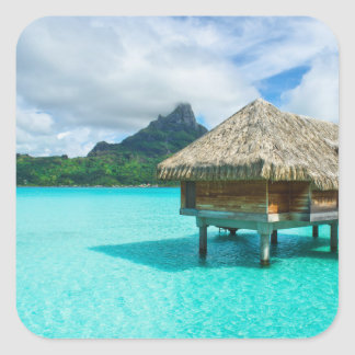 Over-water bungalow, Bora Bora sticker