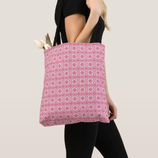 OVERALL PRINT SPRING TOTE BAG Medium Pink