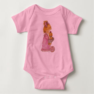 Overalls Body Jersey for Baby, Rose Baby Bodysuit