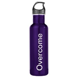 """Overcome"" 24 oz. Purple aluminum 710 Ml Water Bottle"