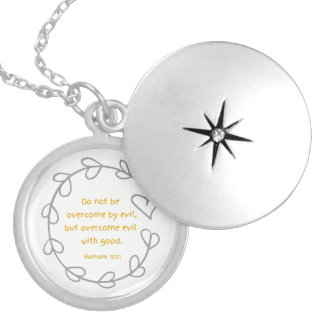 Overcome evil with good necklace