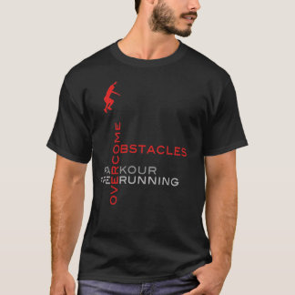 Overcome Obstacles :: On Black T-Shirt