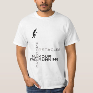 Overcome Obstacles :: On White T-Shirt
