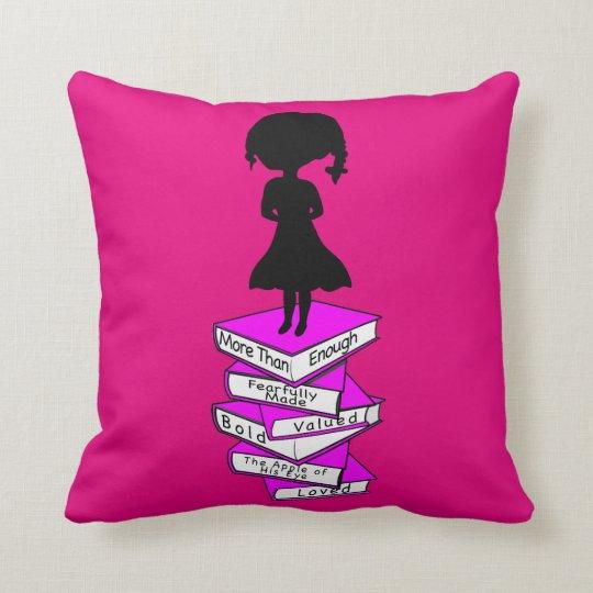 Overcome Signature Little Girl Throw Pillow