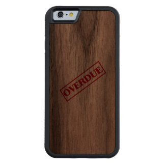 Overdue Stamp - Red Ink Carved® Walnut iPhone 6 Bumper Case