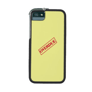 Overdue Stamp - Red Ink Yellow Background iPhone 5 Cover