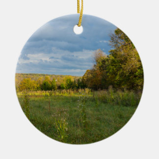 Overgrown Autumn Countryside Ceramic Ornament