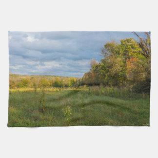 Overgrown Autumn Countryside Kitchen Towel